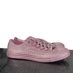 NEW Converse All Star Low Pink Glitter